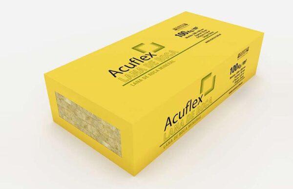 Pack x 6 U Lana de Roca Mineral Acuflex 120x60x5 cm x 100Kg/m3